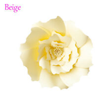 20/30cm DIY Paper Flowers Leaves Backdrop Decor Kid Birthday Party Wedding Favor Beige 1pcs-30cm