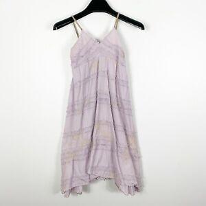 Luna Luna Copenhagen Girls Summer Boho Hippie Purple Floral Long Dress Size 6x