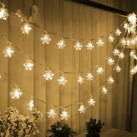 Christmas LED Curtain Window Snowflake String Fairy Lights Waterproof Decor*