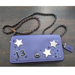 Coach Lucky 13 studded Dinky Crossbody Bag Purple