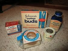 5 Vintage First Aid Items Cotton Buds, Gauze Bandage, Adhesive Tape Etc.