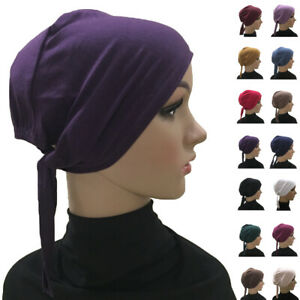 Muslim Under Scarf Cotton Inner Cap Hijab Women Headwear Cover Amira Hat Arab