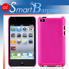 PINK MESH Cover Case For iPod Touch 4G 4th Gen + Film