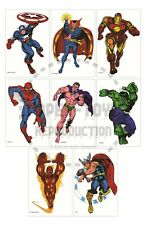 """Reprint - Marvel Personality Posters - Composite Of Original 8 - 11"""" x 17"""""""
