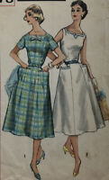 Vtg 1950s Womens House Dress Sewing Pattern CUT COMPLETE Simplicity 2078 Sz 20.5