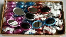 50pcs Folding Hair Brush with Mirror Travel Hair Brush Wholesale 60p each