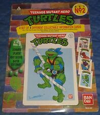 1990 *** Lot de 4 Info jeu de cartes #2 MOC *** Teenage Mutant Ninja Turtles TMNT
