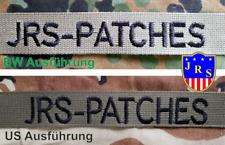 Namensstreifen Namensband Oliv Bundeswehr, US Militär, mit oder ohne Klett
