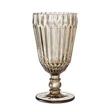 Bloomingville Copa de Vino Marrón Vaso Bebida Vasos para Zumo 210 Ml 16 Cm
