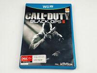 Mint Disc Nintendo Wii U Call of Duty Black Ops 2 Free Postage