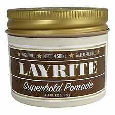 Layrite Super Hold Deluxe Pomade 4 oz Brand New