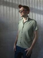 permaflott Herrenfreizeithemd 36L 60er TRUE VINTAGE 60s men's shirt kurzärmlig