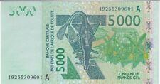 ETATS D'AFRIQUE DE L'OUEST-COTE D'IVOIRE : 5000 FRANCS 2003 NEUF - P.117Ac