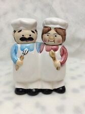 ALCO SALT AND PEPPER SHAKER CHEF AND LADY CHEF