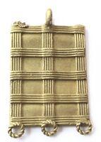 Ghana West African handmade Lost wax Brass trade Beads Pendant