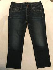 American Eagle Women's Denim Jeans Artist Stretch Dark Wash Size 4 Regular EUC