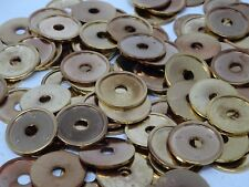 Vintage Round Gold Seats for Shank Buttons 22mm Lot of 15 B152-4