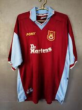 VINTAGE PONY FC WEST HAM UNITED 1998/1999 SOCCER FOOTBALL SHIRT JERSEY SIZE 2XL