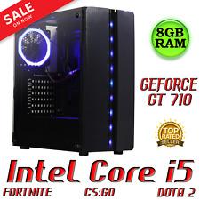 GAMING PC DESKTOP COMPUTER INTEL Core i5 QUAD 8GB 1TB NVIDIA GT 710 WINDOWS 10