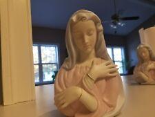 Vintage Mother Mary Planter Dish Pencil Holder Catholic Madonna japan