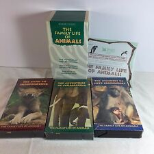The Family Life of Animals 3 VHS Box Set - Readers Digest Documentary Wildlife