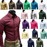 New Luxury Shirts Mens Casual Formal Dress Slim Fit Shirt Top S M L XL XXL