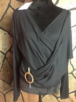 Zara Size L Black Blouse With Appliqué