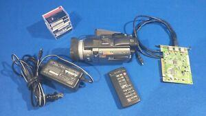 Sony Handycam DCR-TRV950 Mini DV MiniDV Camcorder Works & Firewire Capture Card