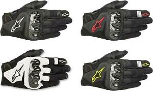 Alpinestars SMX-1 Air V2 Gloves - Motorcycle Street Riding Leather Touch Screen