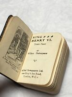 King Henry VI Miniature Book Third Part William Shakespeare 1920s Antique Play