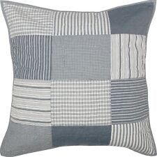 Denim Blue Euro Pillow Sham Hand Quilted Patchwork Sawyer Mill Farmhouse Bedding