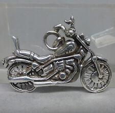 ❂ ►  Sehr schöner Anhänger aus Silber 925, Motorrad Harley Davidson ?