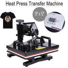 "15"" x 12"" Digital Swing T-Shirt Heat Press Transfer Sublimation Machine DIY"