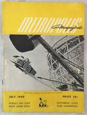 Orig 1940 New York World Fair Magazine Over the Top Ride / Roller Coaster
