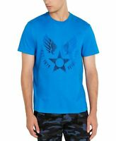 Avirex Mens T-Shirt Blue Size XL Graphic Tee Logo Stamp Star Crewneck $39 164