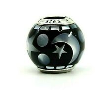 AUTHENTIC PANDORA CELESTIAL MOSAIC CHARM WITH BLACK ACRYLIC & MOP