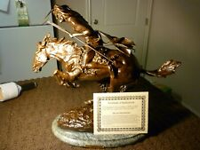 "Fredric Remington's ""Cheyenne"" Bronze Collectible Sculpture Statue"