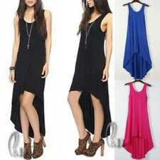 Knee Length Cotton/Spandex Solid Dresses for Women