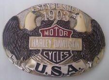 New Vtg. Harley Davidson Belt Buckle Manufactured by Raintree - Established 1903