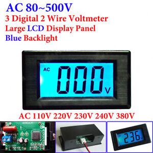AC 80-500V Digital Voltmeter LCD Display Voltag Volt Panel Meter 110V 220V 380V