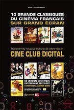 Affiche 40x60cm CINÉ CLUB DIGITAL GAUMONT - 10 Grands Classiques Francais NEUVE