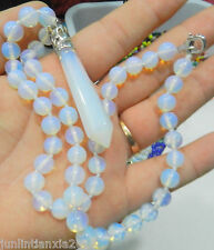 Opal Stone Pendant Necklace 18'' Aaa Hexagonal 8mm Gemstone Healing Chakra Reiki