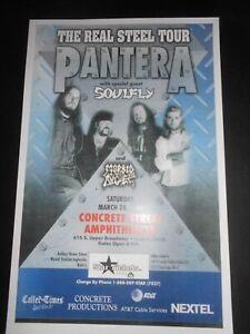 PANTERA Soulfly Real Steel Tour Texas Metal Show Poster Darrell Abbot Dimebag