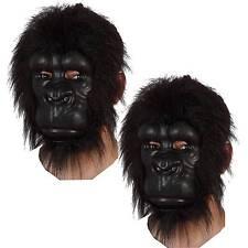 2 x wunderschöne Gorilla Affe Tier Maske Gorillamaske Affenmaske