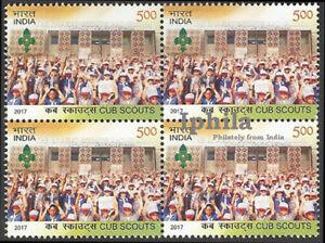 Cub Scouts Block of 4 Boy Scouts Scouting India Emblem Symbol Pfadfinder