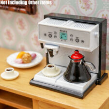 1:12 Expresso Coffee Maker Machine Miniature Metal Kitchen Dollhouse Decor Toy