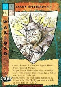 Blood Wars Ccg - Baron Molikroth / P&p