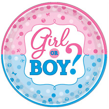 "Gender Reveal Girl Or Boy Edible Cake Topper Wafer Paper 7.5"""