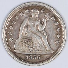 1856-P Seated Liberty Silver Dime 10c