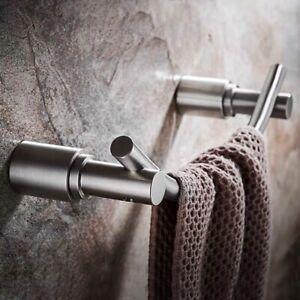 304 Stainless Steel Nickel Towel Bar Brushed Towel Holder Bathroom Shelf Rack